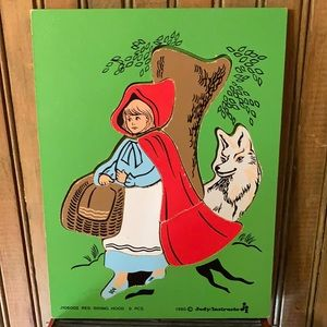 Red Riding Hood 9 pcs Wooden Puzzle 1980